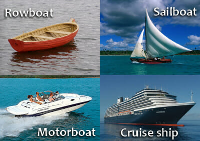 Learn English Words - Boat and Ship