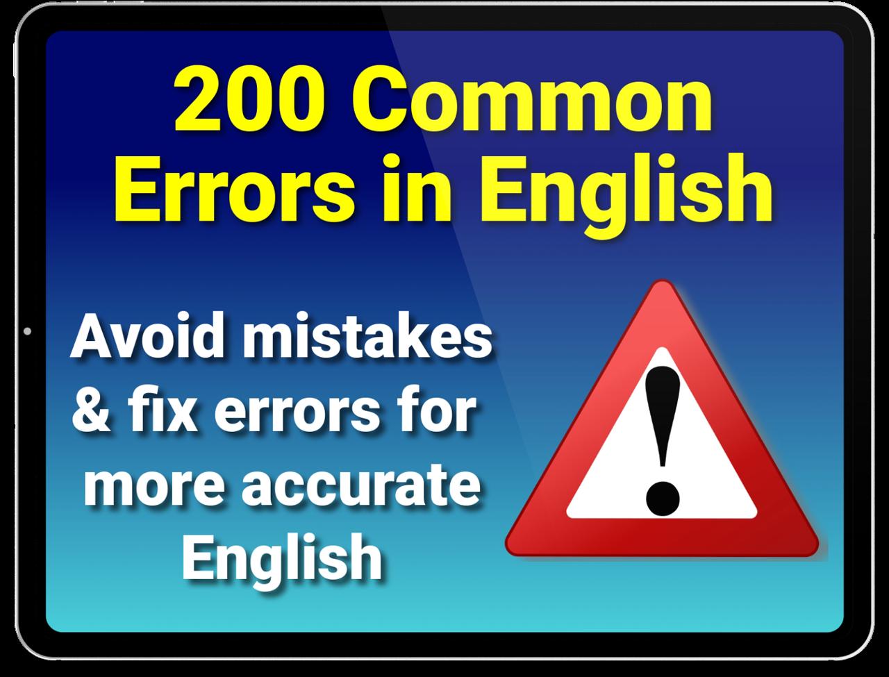 200 common errors in English course
