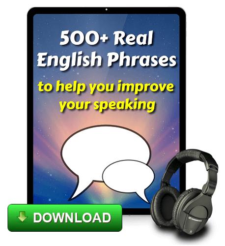 Free e-book from Espresso English 500 Real English Phrases